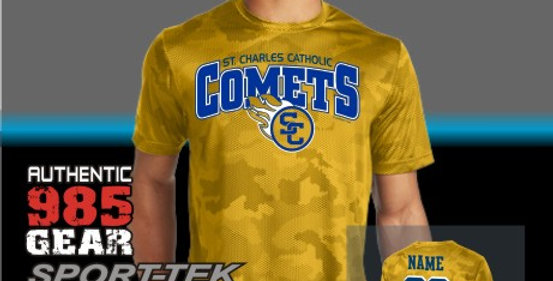 SCC Gold Mens CamoHex Tee