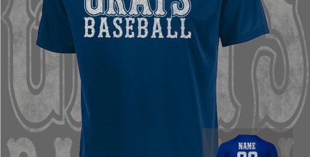 Gray's Baseball Glitter Attain Dry-Fit Navy T-Shirt