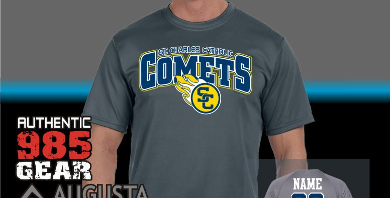 SCC Attain Dry Fit T-Shirt (Graphite)