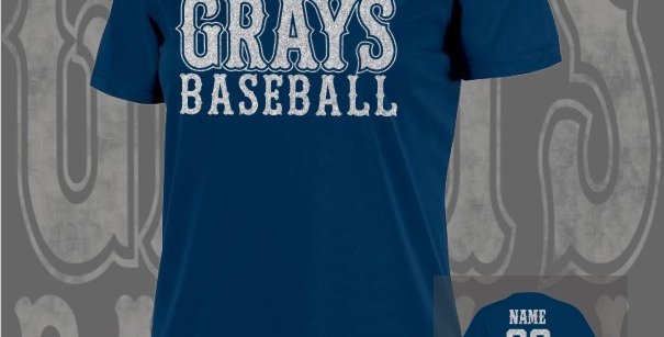 Gray's Baseball Glitter Ladies Dry-Fit Navy V-Neck