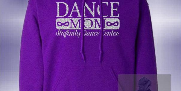 Infinity Dance Mom Glitter Purple Hoodie