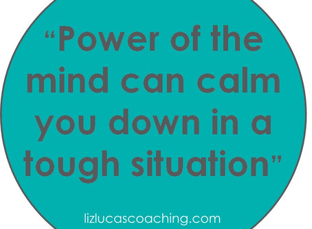 The mind calms you down