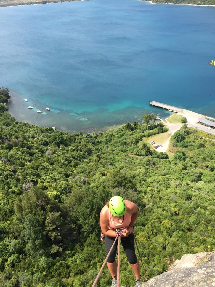 abseiling in Kingston. What a view!
