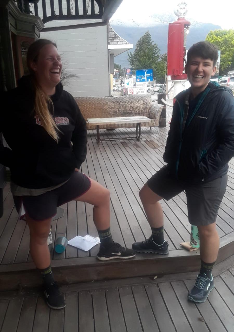 Sim and I loving our matching Melanzana socks