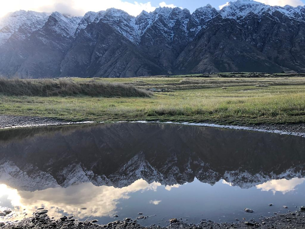 The Remarkables Mountain Range by the house