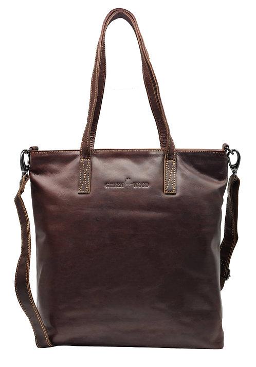 Handtasche Shopper für Damen, Schultertasche Groß aus Leder