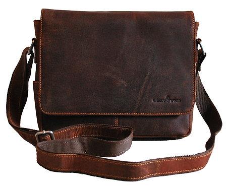 Kleine Umhängetasche aus Leder für Damen und Herren in Braun Farbe