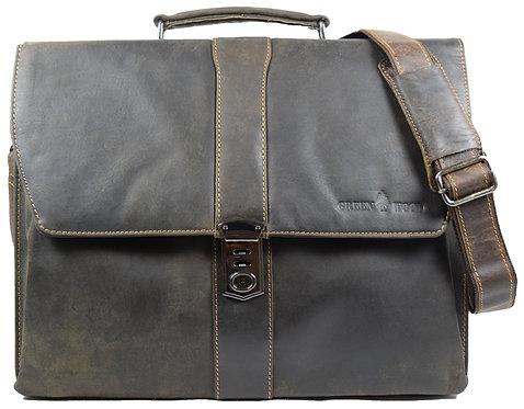 Hagen Vintage Aktentasche Leder Herren Businesstasche Damen Laptoptasche