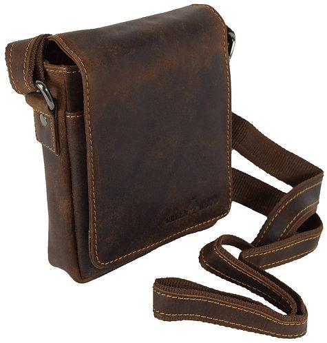 Kleine Umhängetasche für Handy und Schlüssel aus Leder