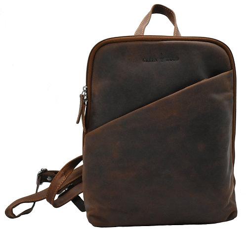 Lederrucksack Klein Damen Reiserucksack iPad-Tablet Rucksack