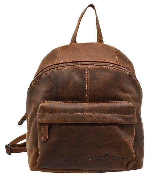 Kleiner Rucksack für Damen in Leder Vintage-Style
