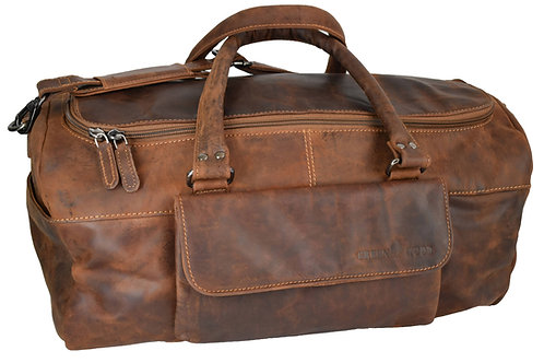 Sporttasche für Damen, Reisetasche aus Leder, Herren Duffle Tasche
