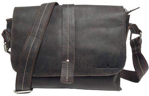 Chris Umhängetasche Leder Damen Schultertasche Braun Tablet Tasche