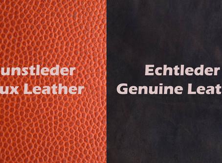 Echtes Leder & Kunstleder | Real Leather & Artificial Leather (Englisch)