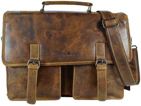 Charles Vintage Businesstasche Damen Aktentasche Leder Laptoptasche Herren