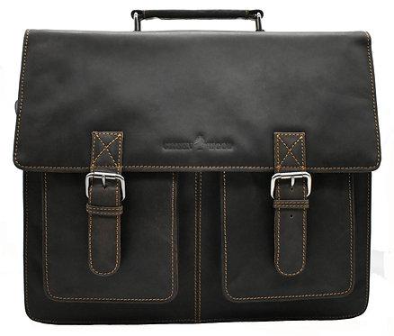 Aktentasche aus Leder für Herren in Braun Farbe, Businesstasche Damen