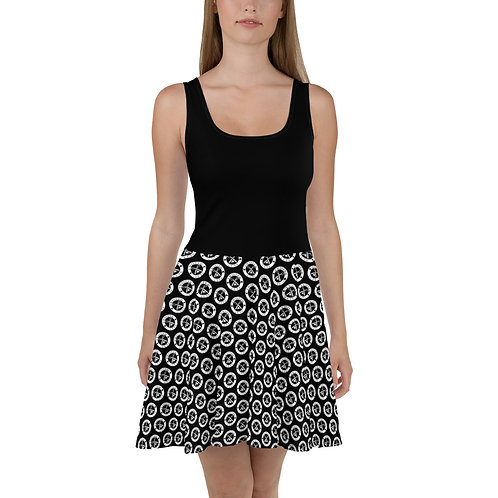 Twisted Cuts Logo Skater Dress