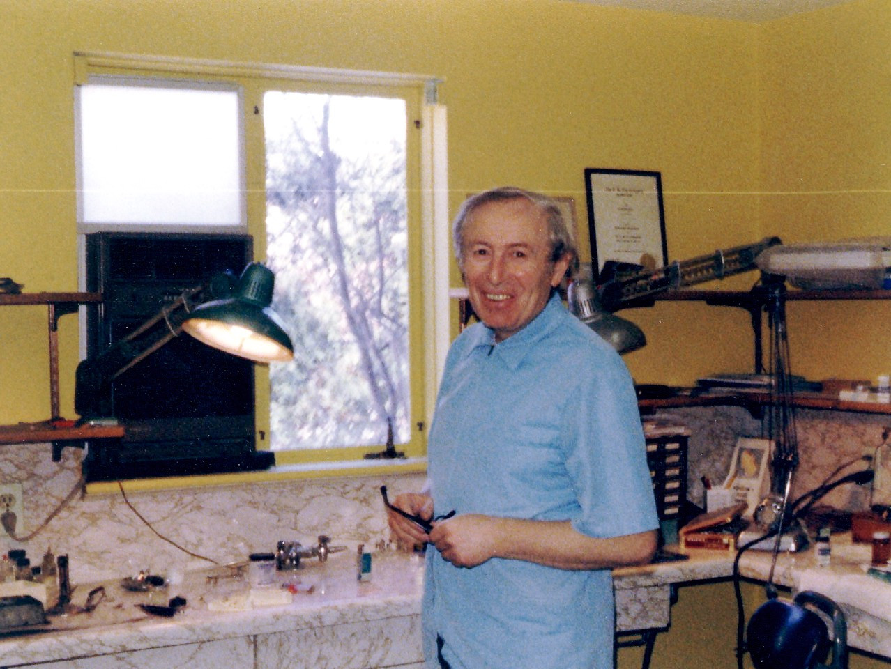 Jacob Birnbaum in his lab in Newton, MA