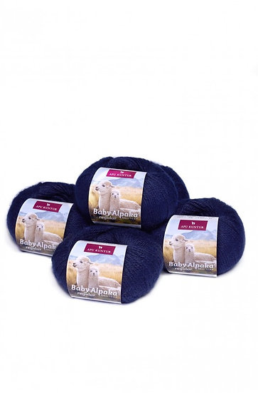 Strickwolle dunkelblau 100% Baby Alpaka