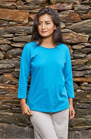 3/4 Arm Shirt aus Bio-Pima Baumwolle
