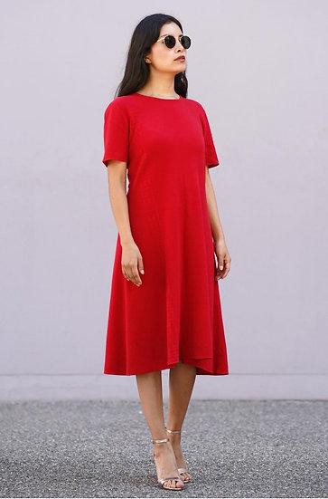 Kleid Merari aus Bio-Pima Baumwolle und Alpaka