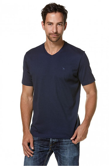 T-Shirt V-Neck 90% Bio-PIMA Baumwolle / 10% Royal-Alpaka