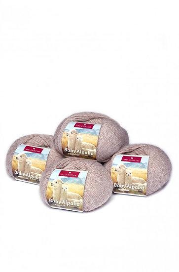 Strickwolle sand 100% Baby Alpaka