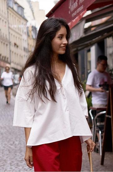 Oversize Bluse Aris aus Bio-Pima Baumwolle