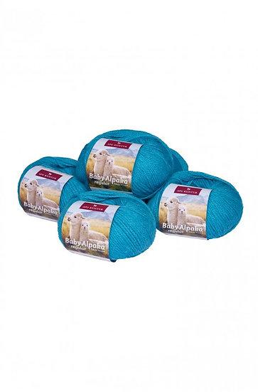 Strickwolle türkis 100% Baby Alpaka