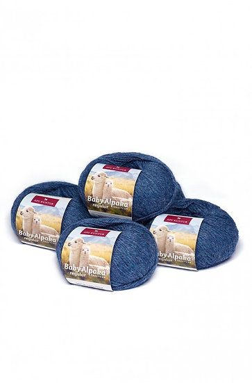 Strickwolle blau-melange 31 100% Baby Alpaka