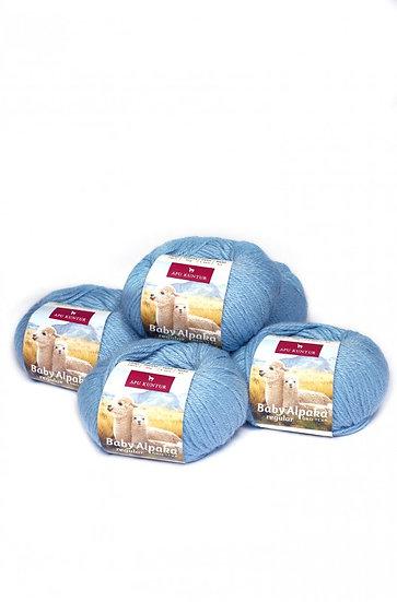 Strickwolle eisblau 100% Baby Alpaka