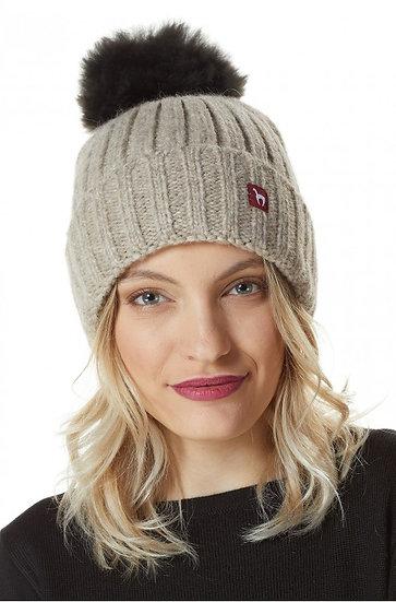 Mütze Bianca mit Bommel