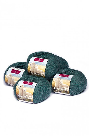 Strickwolle grün-grau 100% Baby Alpaka
