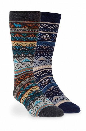 Alpaka Premium Socke bunt