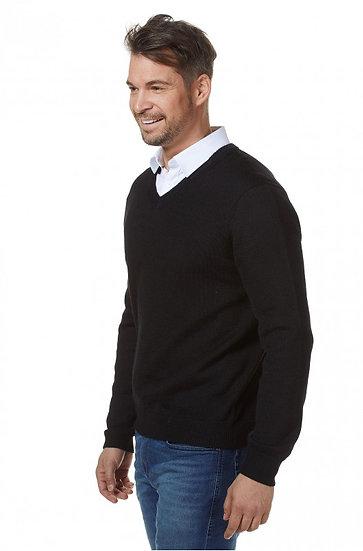 Pullover Basic V-Neck 100% Baby Alpaka