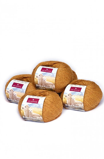 Strickwolle senape 100% Baby Alpaka