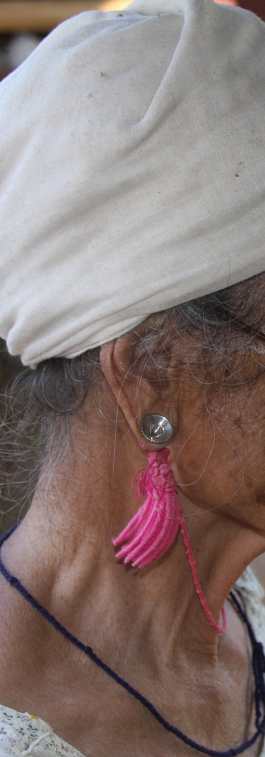 Hilltribe silver and tassle earring