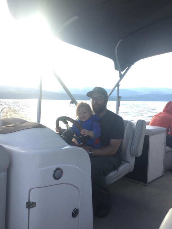 Captain Travis and his daughter