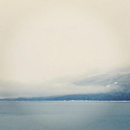 View from Nakusp waterfront walkway in winter