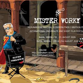 MISTER VORKY 2020 - Sedmo izdanje međunarodnog festivala jednominutnog i kratkog filma u Rumi
