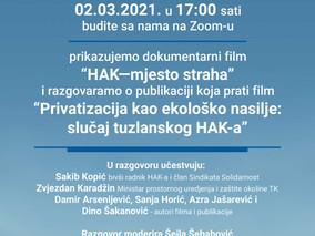 Premijera dokumentarnog filma 'HAK - mjesto straha'
