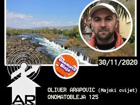 157: Oliver Arapović (Ekološka udruga Majski cvijet) + Onomatobleja 125