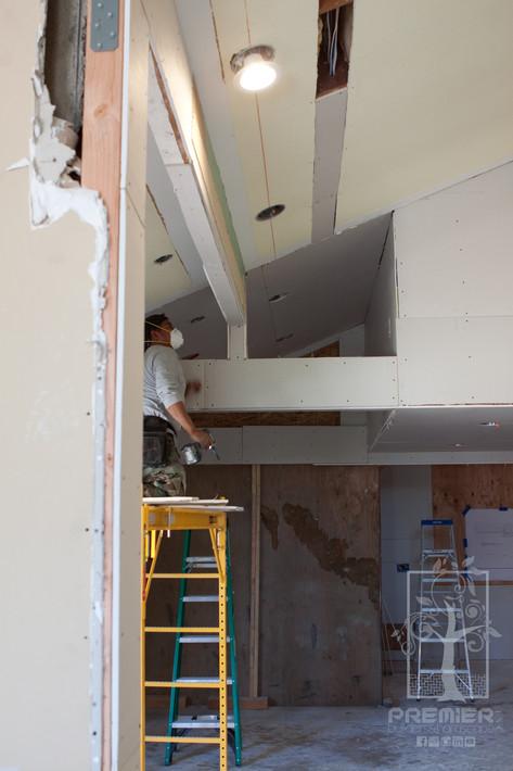 Drywall room addition