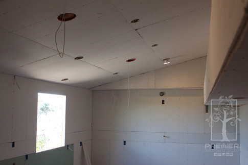 Drywall recessed lights and electrical