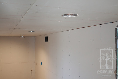 Drywall and Recessed lighting