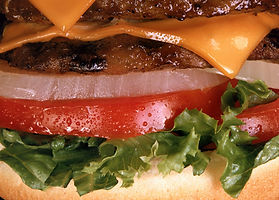Cheeseburger Close Up