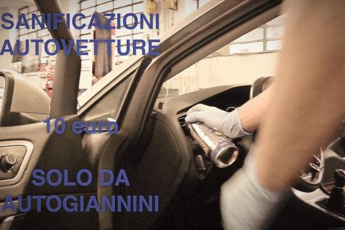 Servizio di sanificazione vetture