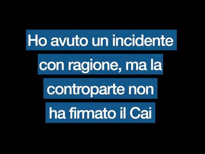 Incidente con ragione ma la controparte non firma il CAI: che fare? Ce lo spiega Gianluca Potenza