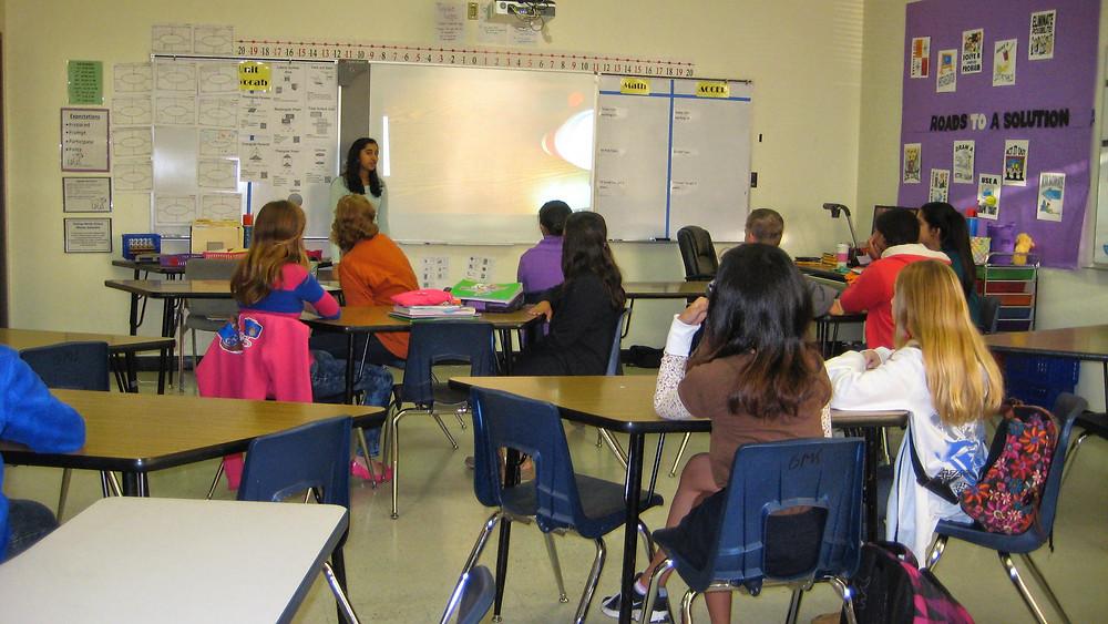Presentation by Priya Ramamoorthy at Grisham Middle School