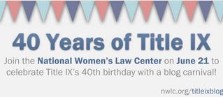 Happy 40th Birthday Title IX